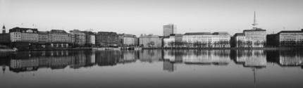 Hamburg Binnenalster 0.1  –  140 x 41 cm  –  Acrylglas