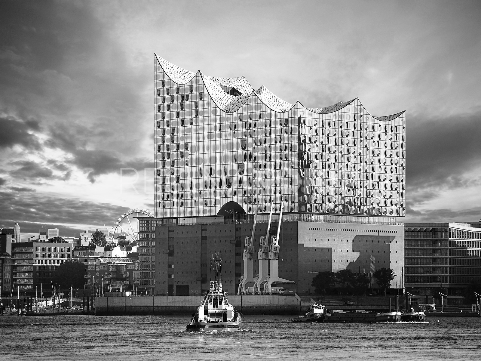 Hamburg – Elbphilharmonie 0.7 – 100 x 75 cm – hinter Acrylglas