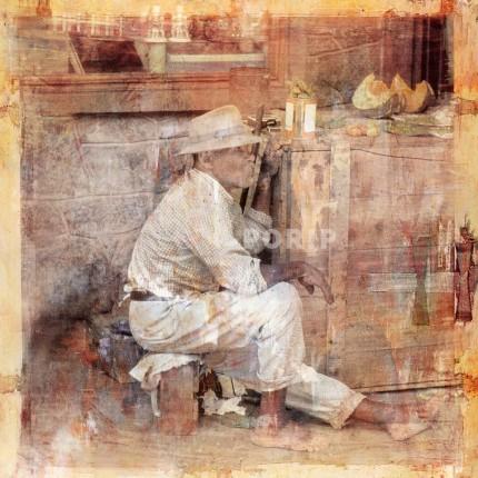 Afrika Old Man  –  40 x 40 cm