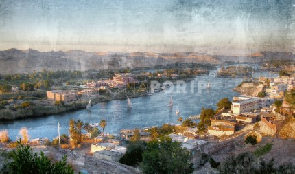 Afrika Ägypten Nil 2  –  120 x 70 cm