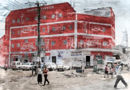 Afrika Kenia Nairobi Cola  –  80 x 55 cm