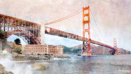 San Francisco Golden Gate Bridge 5 – 120 x 70 cm