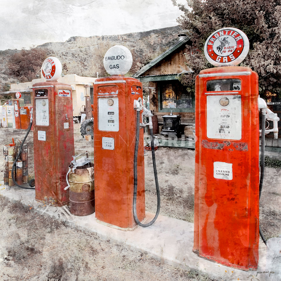 Amerika Kalifornien Gas Station 10 – 50 x 50 cm