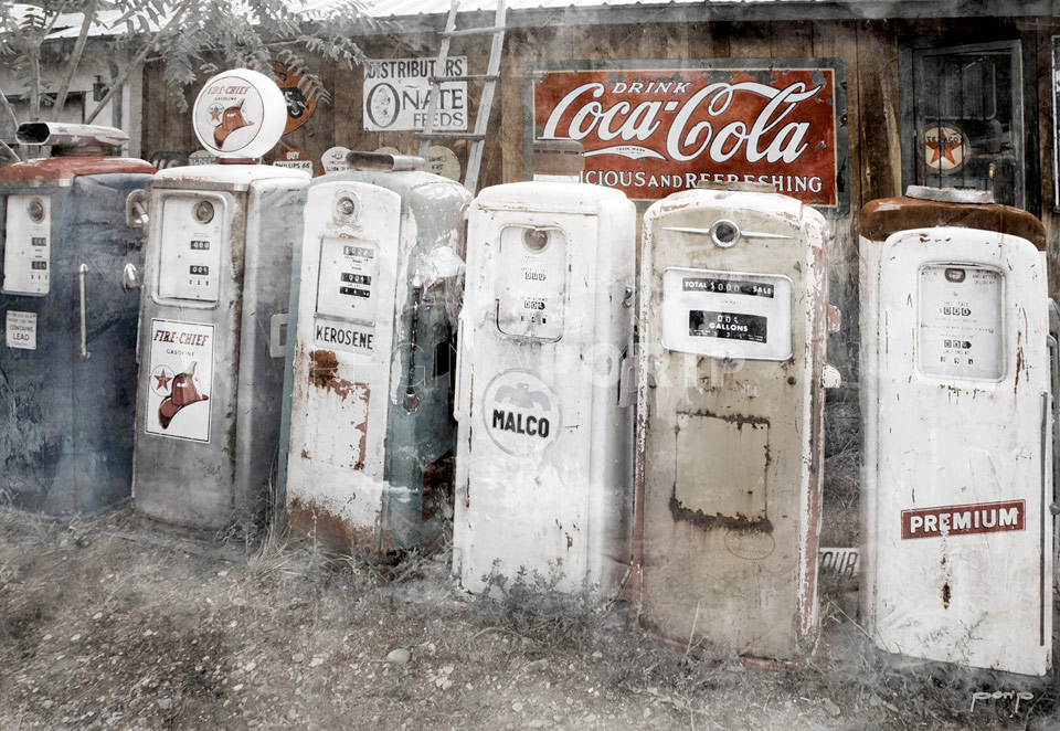 Amerika Kalifornien Gas Station Coca Cola – 80 x 55 cm