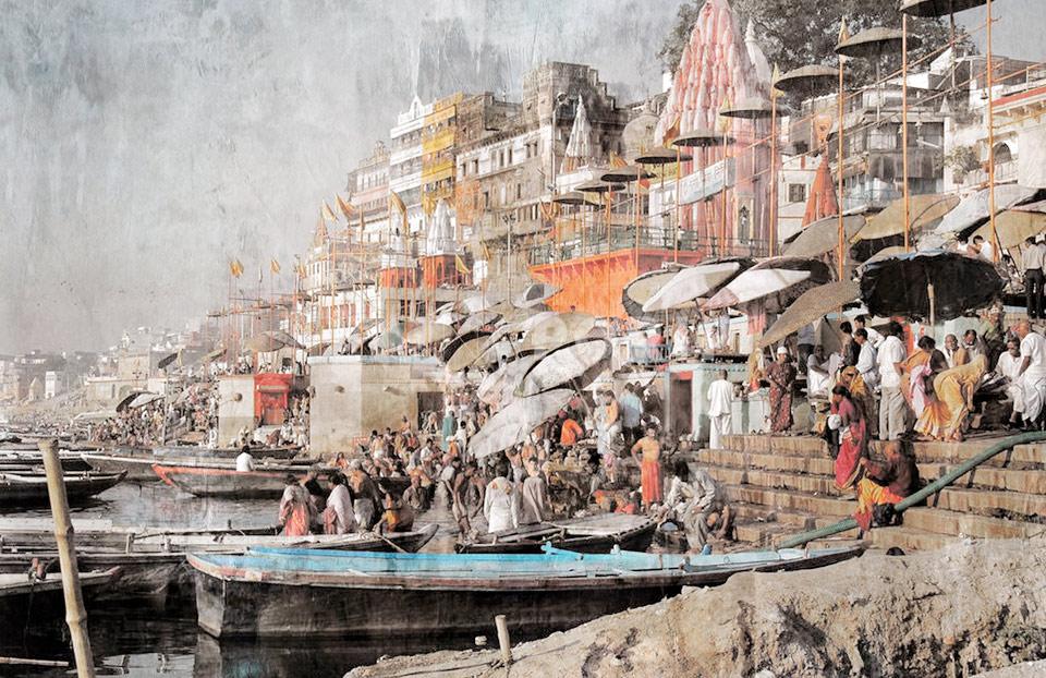 Asien Indien Varanasi 3 – 70 x 45 cm