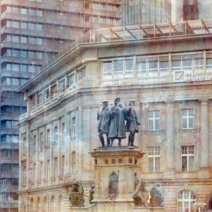 Frankfurt 10 mit Gutenberg-Denkmal – 50 x 50 cm