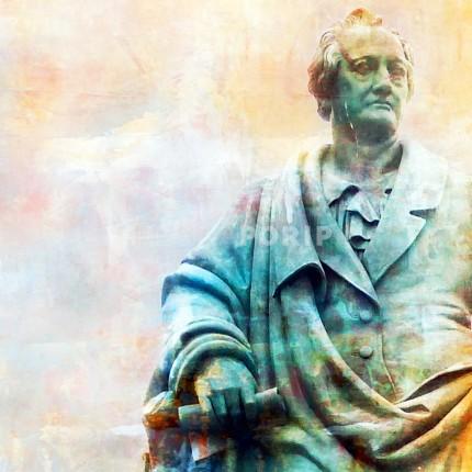 Frankfurt 7 mit Goethe – 50 x 50 cm