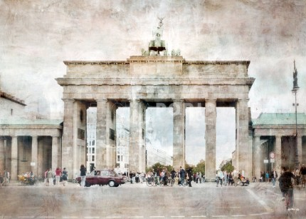 Berlin 13 mit Bradenburger Tor – 100 x 70 cm