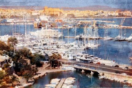Palma de Mallorca mit Kathedrale – 85 x 55 cm