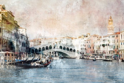 Venedig 12 mit Rialtobrücke – 90 x 60 cm