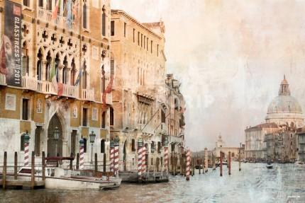 Venedig 23 Canale Grande mit Santa Maria – 120 x 80 cm