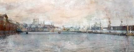 Hamburg Hafen Skyline – 100 x 40 cm