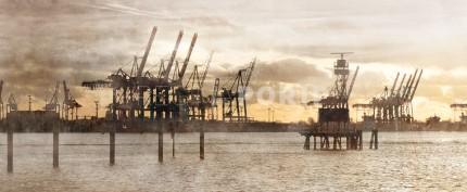 Hamburg Hafen 3 – 120 x 50 cm