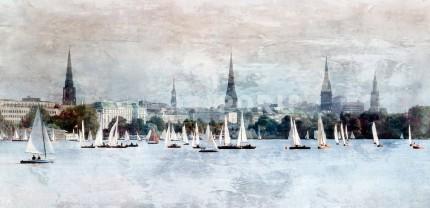 Hamburg Alster 16 – 140 x 70 cm