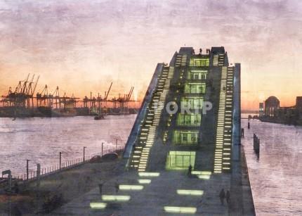 Hamburg Hafen 15 Dockland – 100 x 70 cm