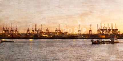 Hamburg Hafen 14 – 60 x 30 cm