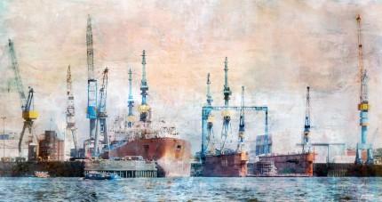 Hamburg Hafen 38 – 95 x 50 cm