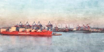 Hamburg Hafen 39 – 120 x 60 cm