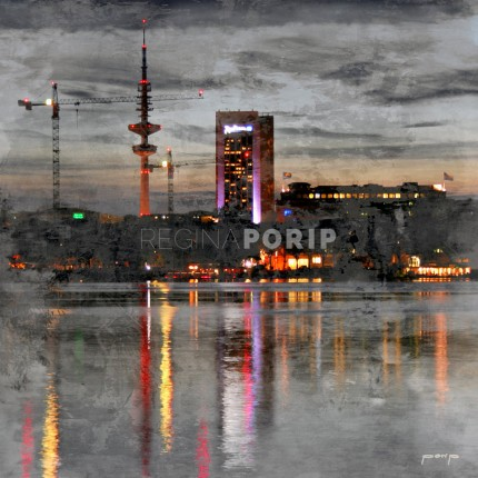 Hamburg Alster Fernsehturm 3 – 30 x 30 cm