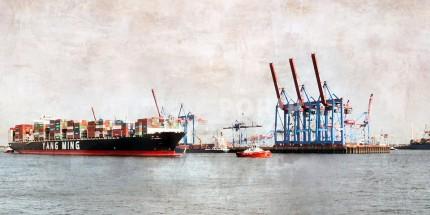 Hamburg Hafen 45 – 120 x 60 cm