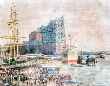 Hamburg Hafen 46 – 90 x 70 cm