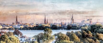 Hamburg Alster 43 – 120 x 50 cm