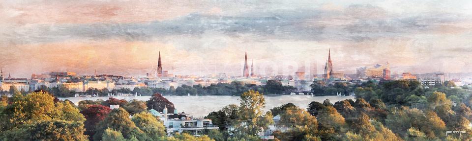 Hamburg Alster 44 – 100 x 30 cm
