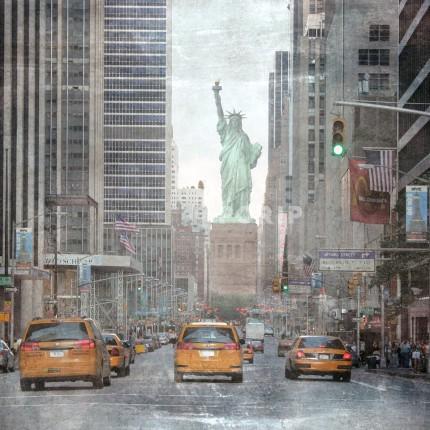 New York Miss Liberty Taxi – 70 x 70 cm
