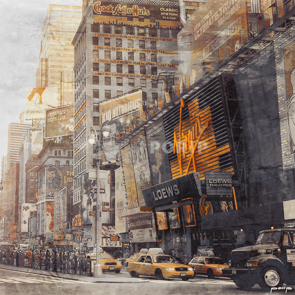 New York Timesquare Virgin – 60 x 60 cm
