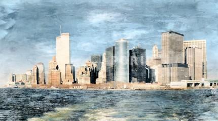 New York Skyline World Trade Center – 100 x 55 cm