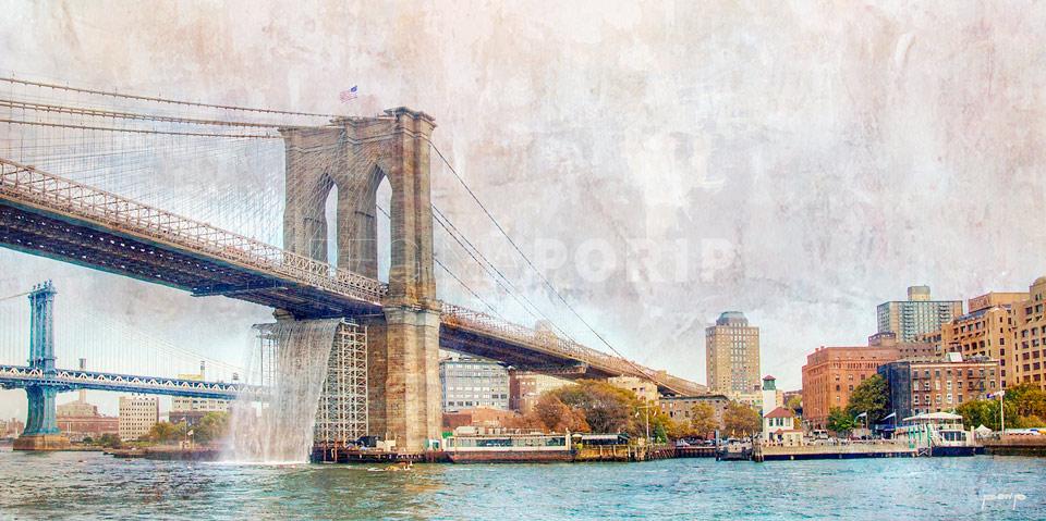 new york brooklyn bridge 3 kunst fotografie und design aus hamburg von regina porip. Black Bedroom Furniture Sets. Home Design Ideas
